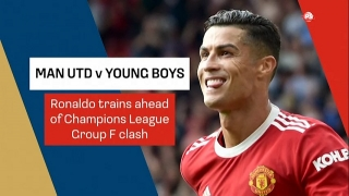 Football News : Ronaldo trains ahead of Young Boys in UCL